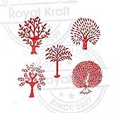 Jaipuri Shapes Flower and Tree Wood Block Print