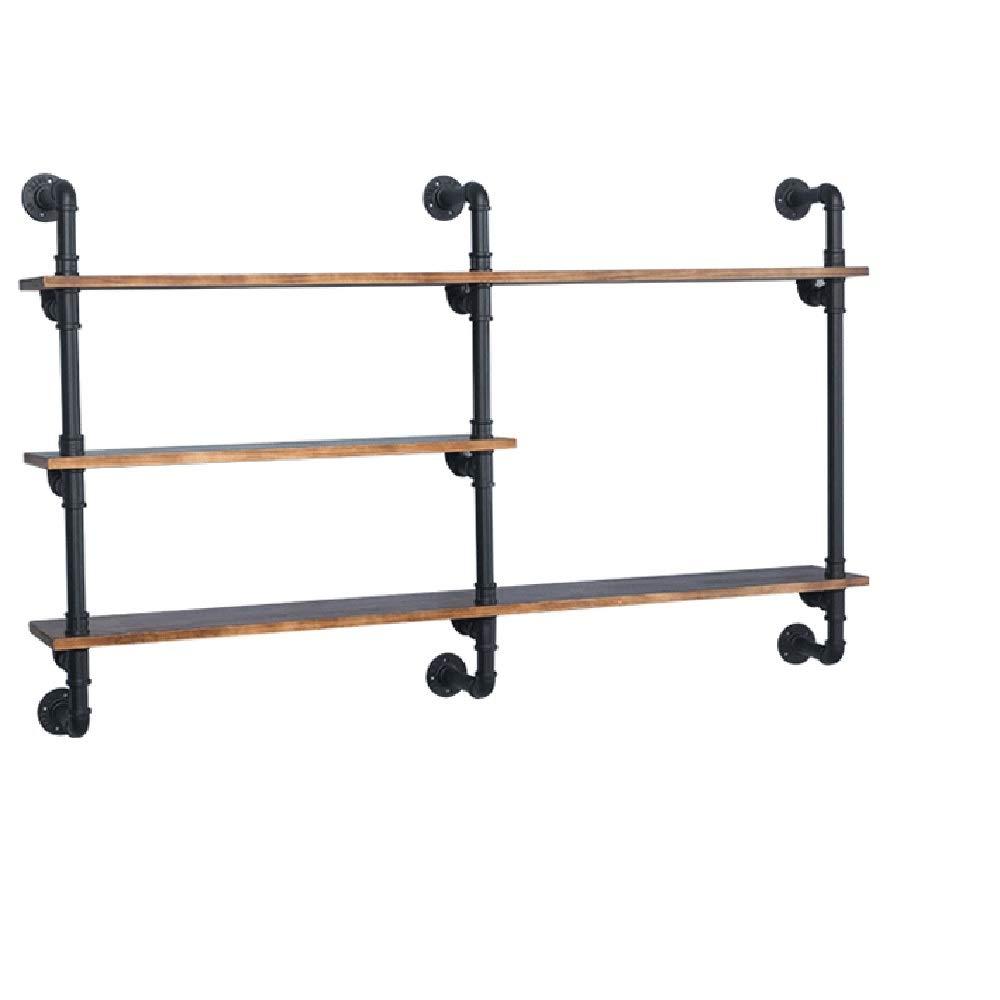 Xyanzi-zhiwujia 3層木製棚工業用壁棚はしご棚diy鉄パイプ立ち本棚ユーティリティ収納ラック100センチ/ 120センチ/ 140センチ 機能的な収納棚 (サイズ さいず : 120cm) B07PR4G4GX  120cm