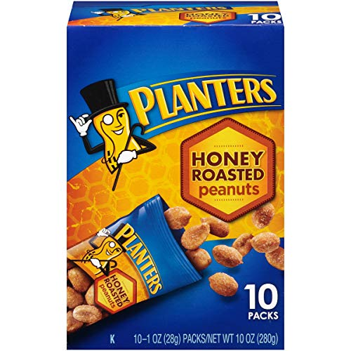 Planters Honey Roasted Peanuts (1 oz Bags, Pack of 10)