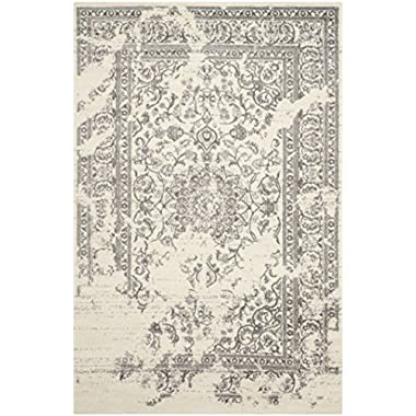 Safavieh Adirondack Collection ADR101B Ivory and Silver Oriental Vintage Area Rug (9' x 12')
