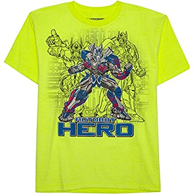 Transformers Optimus Prime Boy Short Sleeve Shirt Size 6/7