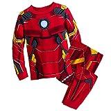 Marvel Iron Man Costume PJ Pals Pajamas Set for Boys Size 6