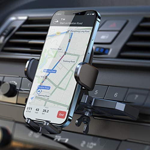CD Phone Holder for Car , [Ultra Sturdy] AINOPE Car Phone Mount , [Silicone Protection] Universal CD Slot Phone Holder Compatible with All iPhone & Cell Phones , for Smartphone