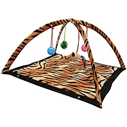 Corner Biz Pet - Cat Toys Activity Tent Exercise & Stay Active Play Folding Bed With Hanging Toy