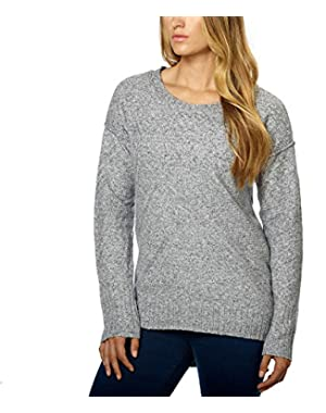 Calvin Klein Women's Crew Neck Pullover Sweater, Grey, XXL