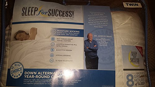 Sleep for Success! by Dr. Maas Side Sleeper Pillow, 50% Cotton /50% TENCEL Lyocell with a 400 Thread Count, (White, Standard/Queen)