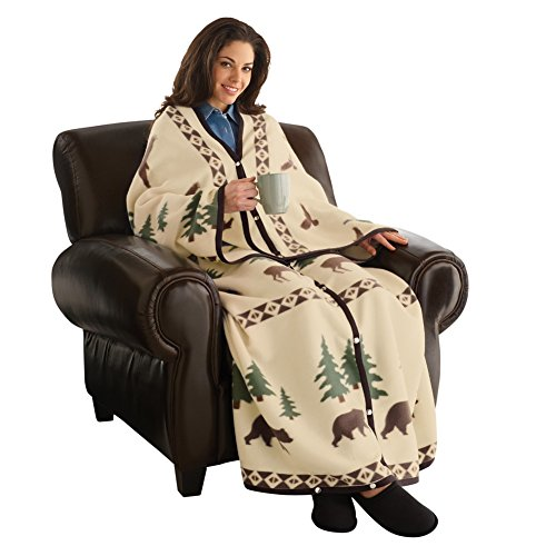 Northwoods Cuddle Wrap Blanket, Tan