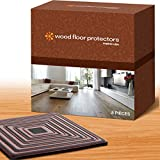 Furniture Pads, Furniture Feet Set of 8, 4 Inches Square or Round 3/16 Inches Thick. Furniture Cups for Hardwood Floors