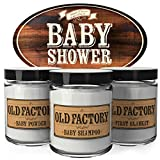Old Factory Scented Candles - Baby Shower -Decorative Aromatherapy - Handmade in the USA with Only the Best Fragrance Oils - 3 x 4-ounce Soy Candles
