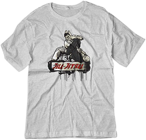 - BSW Men's Jiu-Jitsu Brazilian Arm Bar MMA Shirt 2XL Ash Grey