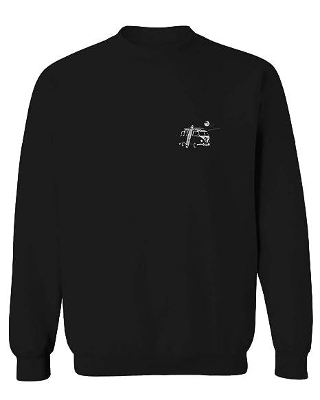 57b632d8ff77 Amazon.com  Cool Hipster Good Vibes Vintage Graphic surf Beach Print Summer  Men s Crewneck Sweatshirt  Clothing