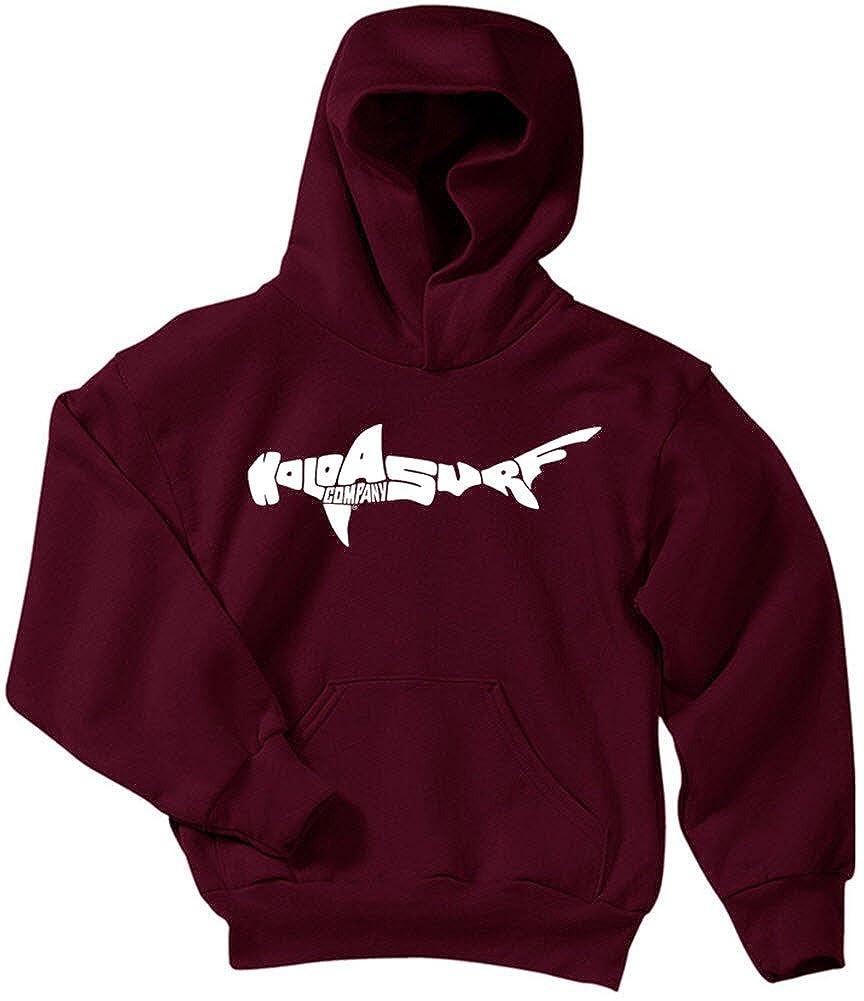 Koloa Shark Logo Youth Hoodies-Pullover Hooded Sweatshirts in 24 Colors