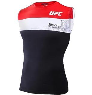 BOXEUR DES RUES Fight Activewear Serie, Camiseta sin Mangas con Logo UFC Hombre