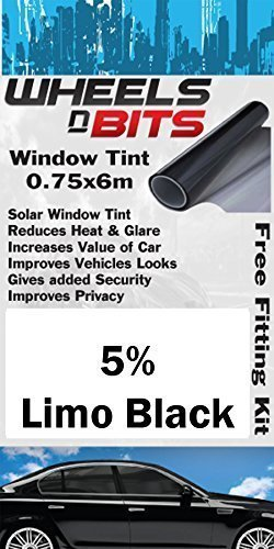 Opel Vauxhall Corsa Frontera Window Tint 0.75 x 6M Metres 5% Limo Black Solar Film Tint UV Wheels N Bits