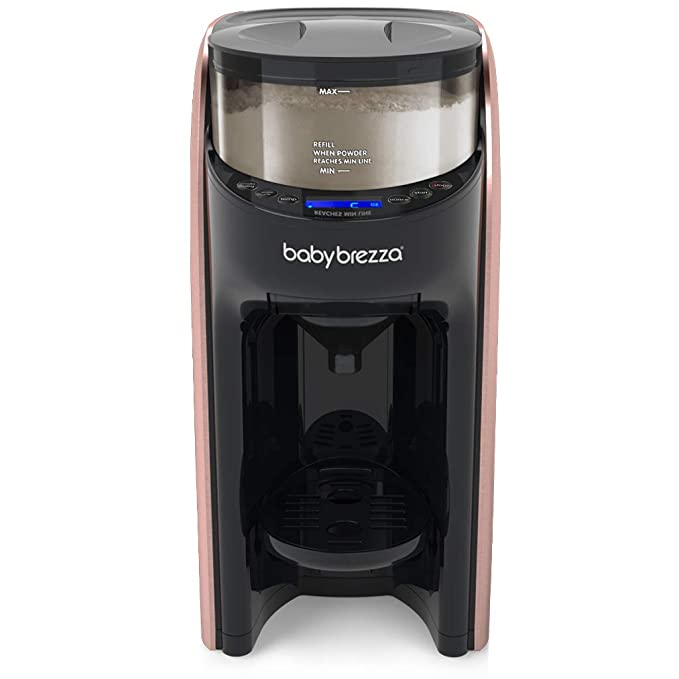 Brushed Silver New and Improved Baby Brezza Formula Pro Advanced Formula Dispenser Machine Automatically Mix a Warm Formula Bottle Instantly Easily Make Bottle with Automatic Powder Blending