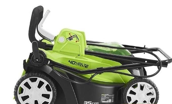 GreenWorks - Cortacésped eléctrico a batería G40LM35 40 V ...