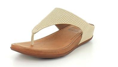 b039c8a4c81f90 FitFlop Womens Banda Perforated Thong Sandal Shoes