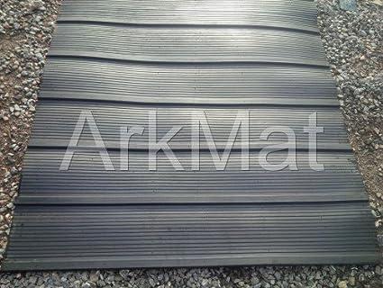 Ark Caucho Caballo Caja Remolque Rampa estera 7ftx4ft - Estable