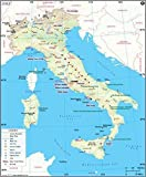 Italy Map (36'' W x 43.5'' H)
