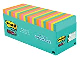 Post-it Super Sticky Notes, 3 in. x 3 in, Miami Collection, 24 Pads/Pack, 70 Sheets/Pad (654-24SSMIA-CP)
