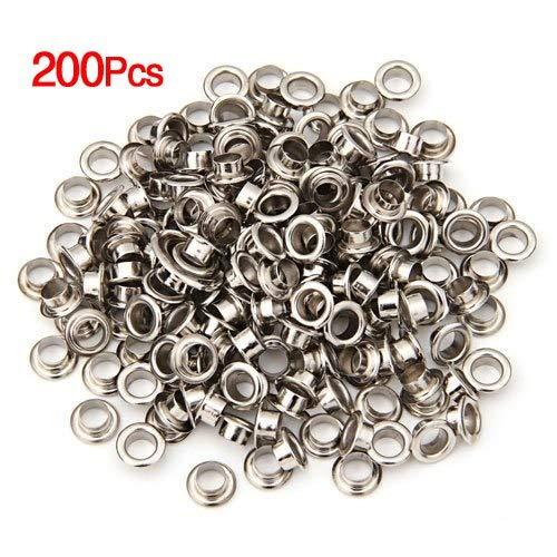 (Silver Planet - Gsfy 200 Metal Round Hole Rivet Silver Color 8 Mm 0.32 Quot - Ring Sculpture Bracelet Favors Necklace Party Silver Planet Earrings)
