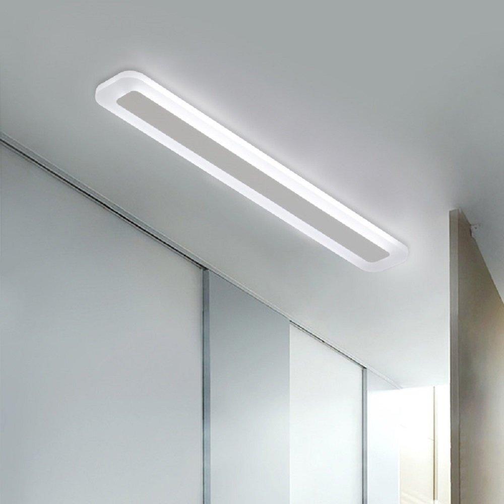 Aiwen LED Ceiling Lighting 14W Acrylic Ceiling Mount Lamp Rectangular PMMA High Transmittance Lampshade Flush Mount Ceiling Light White LED Source Light L 15.7inch W 3.5inch