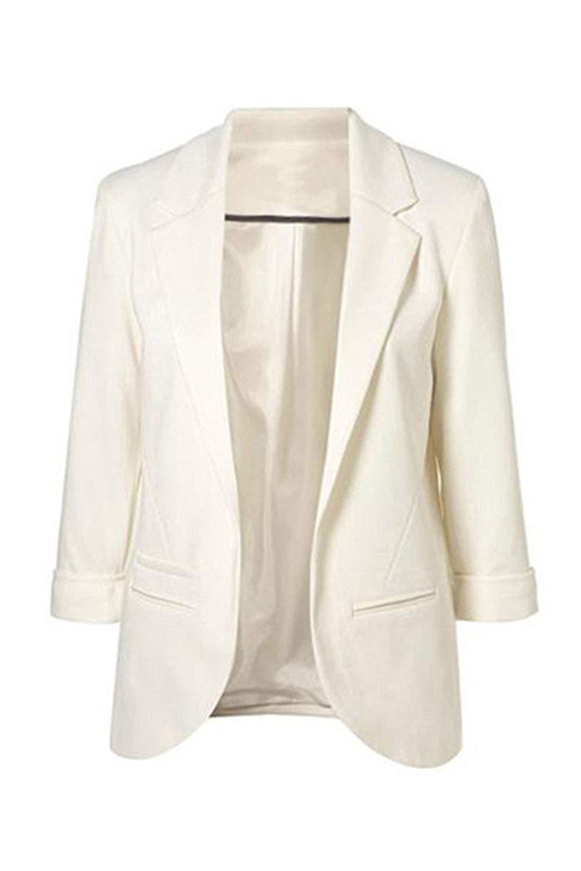 Oudan Giacca Donna Primavera Autunno Casual Solid Work Cardigan Blazer Colore : Royal, Dimensione : UK XS//CN XS