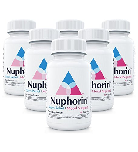 Nuphorin Anxiety Relief :: #1 Fast-Acting Anxiety Supplement for Anxiety, Stress Relief and Panic (60 Capsules) :: 12 Powerful, Professional-Grade Ingredients :: (6-Bottles) by Nuphorin
