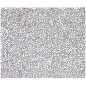 Amazon CafePress Silver Gray Glitter Sparkles Soft Fleece Simple Silver Sequin Throw Blanket