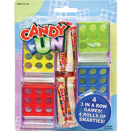 Candy Fun Smarties Tic Tac Toe Party Favors 4/Pkg Pkg/1
