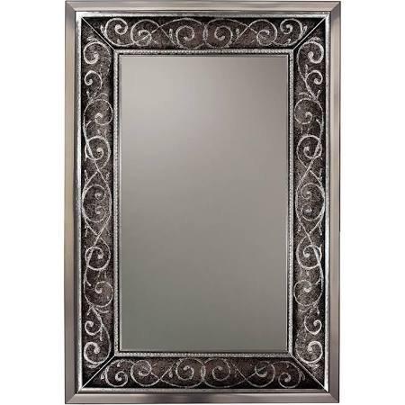 Head West 8603 37.25 x 25.25 in. Silver Verona Scroll Mirror