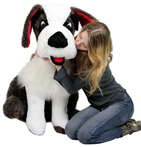 ade Life Size Stuffed Saint Bernard 38 Inch Soft Dog Whimsical Pooch ()