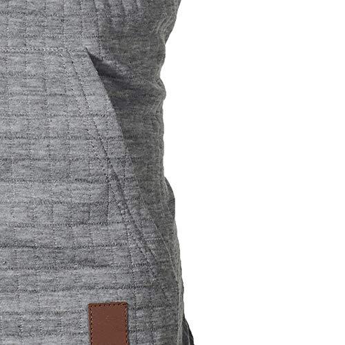 Luckycat Capuche Gris À Slim Longues Fit Homme Plaid Sweat Top Sweatshirt Automne Manches shirt Hiver Homme Hooded FxXFrq