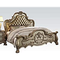 ACME Dresden Gold Patina Eastern King Bed