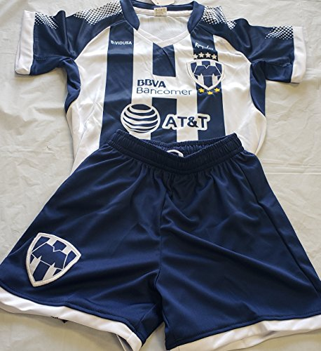 Pc Jersey New - New! Rayados de Monterrey Short and Jersey 2 Pc Kids M (5-6 YEARS)