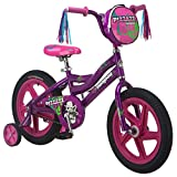Mongoose Girl's Pizaaz 16-Inch Bicycle, Purple/Pink