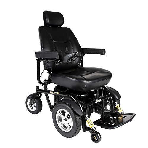 Drive Medical Trident HD Heavy Duty Power Wheelchair, Black, 24 Inch