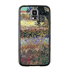 CaseCityLiu - Garden Flowers Vincent Willem van Gogh Oil Painting Design Black Bumper Plastic+TPU Case Cover for Samsung Galaxy S5