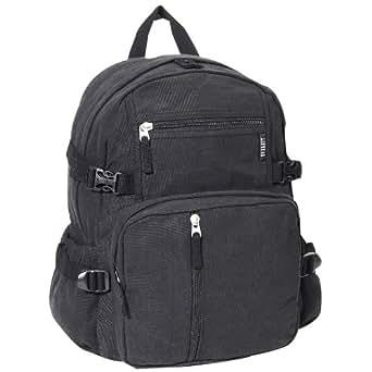 Everest Luggage Canvas Backpack Black, Black, One Size