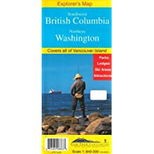 Southwest British Columbia & Northern Washington Explorer's Map by Gem Trek Publishing (2007-01-01)