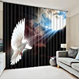 yan 3D Bedroom Curtains - Three-Dimensional Two Panels Curtain Bedroom Living Room Kitchen Double With High Blackout Curtains (excluding Curtain Rods Or Rails) (Size : 2.20x1.80M)