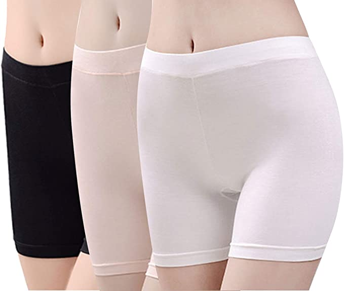 Slip Shorts for Under Dresses-Seamless Boyshorts Panties for Women