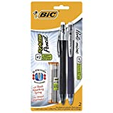 BIC Reaction Mechanical Pencils, Black, 0.7mm, 2-Pack (Color May Vary)