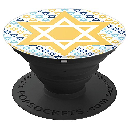 Star Of David Jewish Hanukah Gift Hanukkah - PopSockets Grip and Stand for Phones and Tablets (Hanukah Gift)
