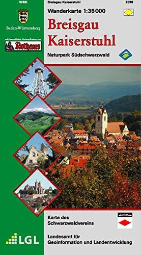 Breisgau Kaiserstuhl: Wanderkarte Naturpark Südschwarzwald
