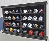 32 Pocket Pro mini Helmet Display Case Cabinet Holders Rack w/ UV Protection, MH07-BLA