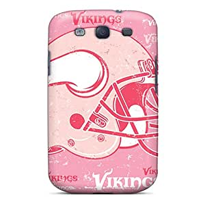DannyLCHEUNG Samsung Galaxy S3 Scratch Resistant Cell-phone Hard Covers Unique Design Vivid Minnesota Vikings Pattern [mOQ17630MPYV]