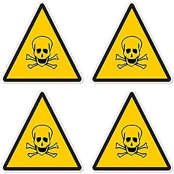 amazoncom warning caution poison danger sign sticker