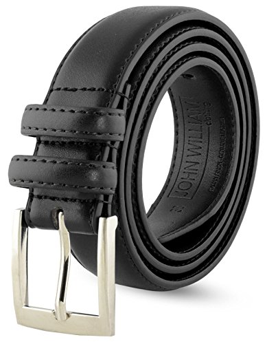 "Leather Belts For Men - Mens Black Belt - 1.25"" Dress & Casual Men's Belt in Gift Bag - 40 from John William Clothing"