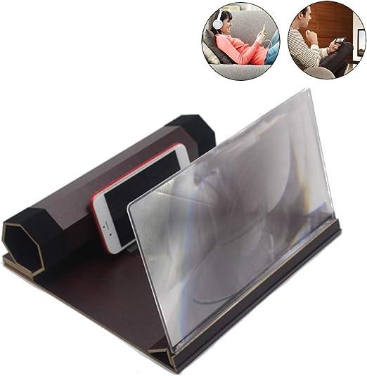 Lupa pantalla de 12 pulgadas Smartphone Lupa 3d del teléfono móvil ...